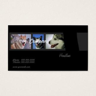 Tarjeta de visita de los perros esquimales