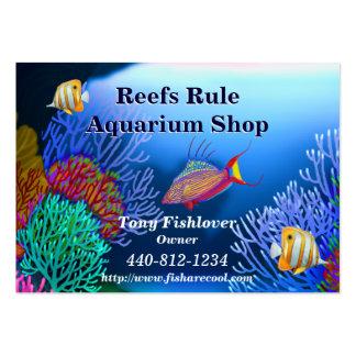 Tarjeta de visita de los pescados del acuario del