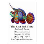 Tarjeta de visita de los pescados del gobio de Dra