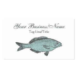 Tarjeta de visita de los pescados del Victorian