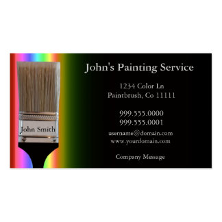 Tarjeta de visita de los pintores