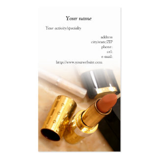 """""""Tarjeta de visita de los productos de maquillaje"""" Tarjetas De Visita"""