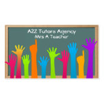 tarjeta de visita de los profesores o de los profe
