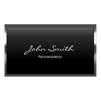 Tarjeta de visita de los Prosthodontics de la fron