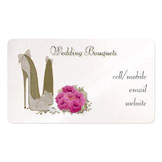 Tarjeta de visita de los ramos del boda