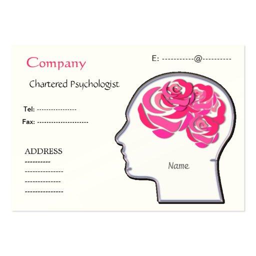 Tarjeta de visita de los rosas del cerebro…