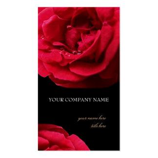 Tarjeta de visita de los rosas rojos de la pasión