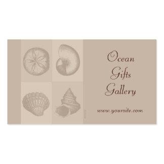 Tarjeta de visita de los Seashells de los regalos