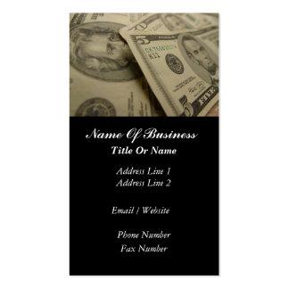 Tarjeta de visita de los servicios financieros
