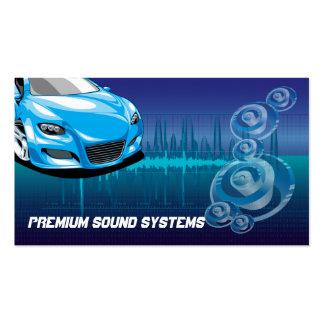 Tarjeta de visita de los sistemas de audio para el