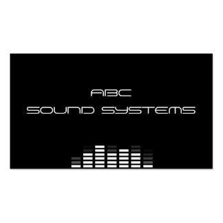 """Tarjeta de visita de los """"sistemas de sonido"""""""