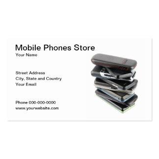 Tarjeta de visita de los teléfonos móviles
