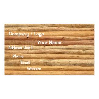 Tarjeta de visita de los troncos