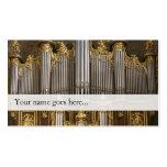 Tarjeta de visita de los tubos de órgano -