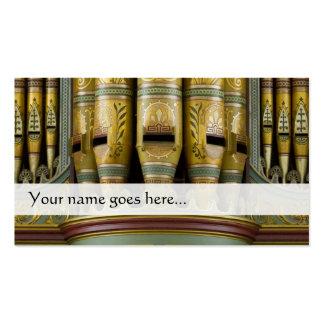 Tarjeta de visita de los tubos de órgano - tubos