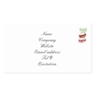 Tarjeta de visita de Macarons