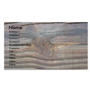 Tarjeta de visita de madera 2