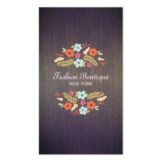 Tarjeta de visita de madera de la flor de la mirad