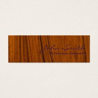 Tarjeta de visita de madera del ingeniero del