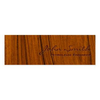 Tarjeta de visita de madera del ingeniero del petr