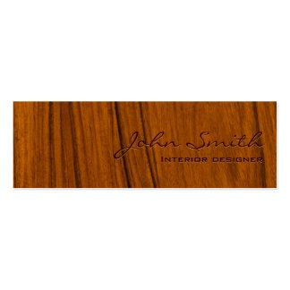 Tarjeta de visita de madera elegante de los interi