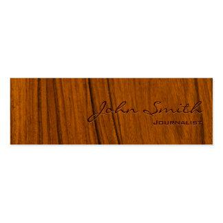 Tarjeta de visita de madera elegante del periodist