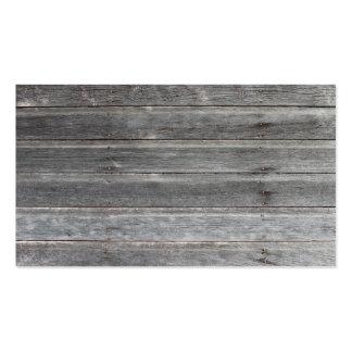Tarjeta de visita de madera (resistida) vieja de l