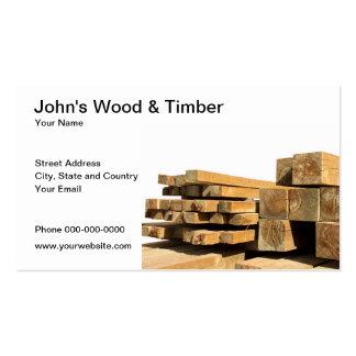Tarjeta de visita de madera y de la madera