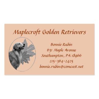 Tarjeta de visita de Maplecroft del golden retriev