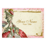 Tarjeta de visita de Marie Antonieta Versalles