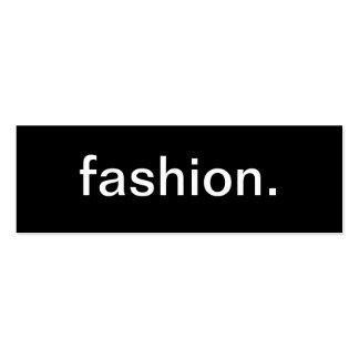 Tarjeta de visita de moda