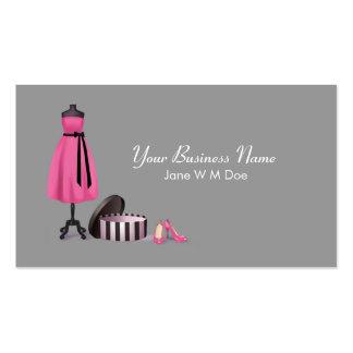 Tarjeta de visita de moda de las costuras
