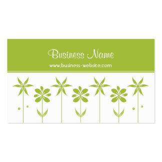 Tarjeta de visita de moda del diseño floral
