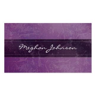 Tarjeta de visita de moda púrpura de mármol del