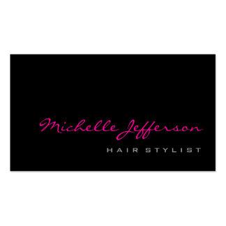 Tarjeta de visita de moda rosada gris de la escrit