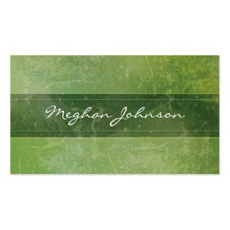 Tarjeta de visita de moda verde de mármol del