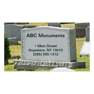 Tarjeta de visita de Monument Company