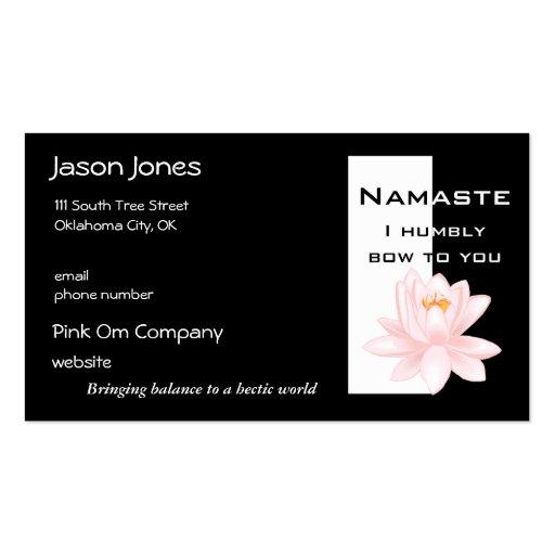 Tarjeta de visita de Namaste