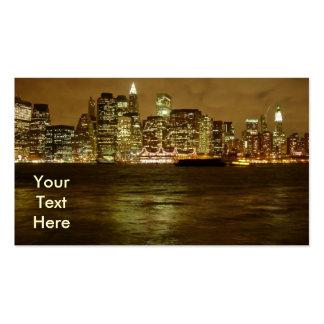 Tarjeta de visita de noche de Nueva York