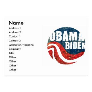 Tarjeta de visita de Obama Biden del Grunge