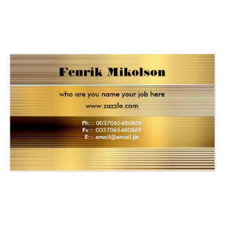 tarjeta de visita de oro
