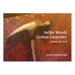 Tarjeta de visita de oro del martillo del carpinte