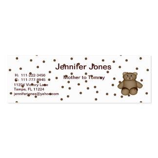 Tarjeta de visita de oso de peluche