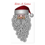 Tarjeta de visita de Papá Noel. Alquile un Santa