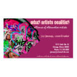 tarjeta de visita de papel de la pintada