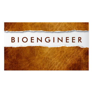 Tarjeta de visita de papel rasgada vieja del Bioen