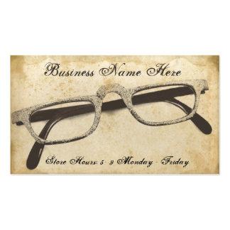 Tarjeta de visita de papel sucia de las lentes