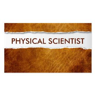 Tarjeta de visita de papel vieja del científico fí
