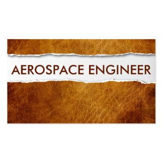 Tarjeta de visita de papel vieja del ingeniero aer