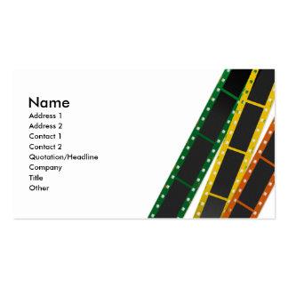 tarjeta de visita de película